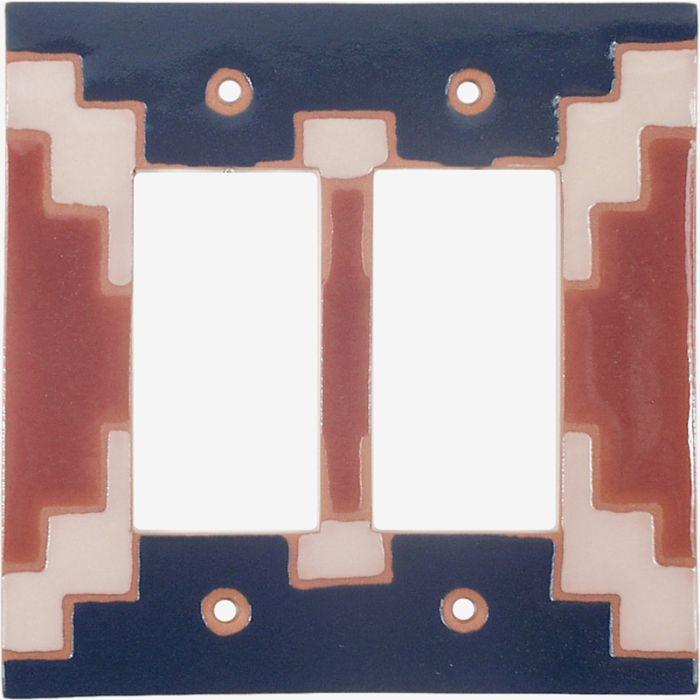 Blanket 70 2 Gang Double GFCI Rocker Decorator Wallplates