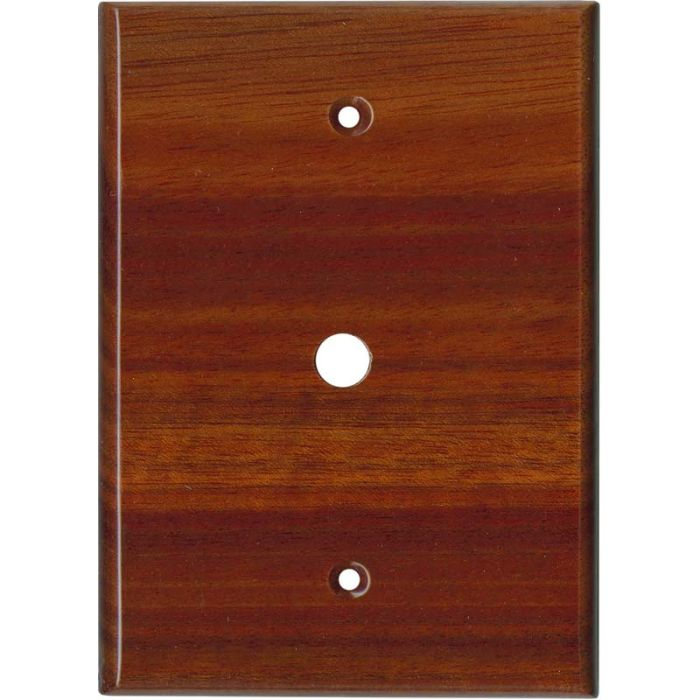 Bloodwood Satin LacquerCoax - Cable TV Wall Plates