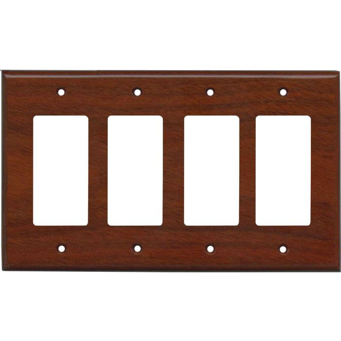 Bloodwood Satin Lacquer 4 Rocker GFCI Decorator Switch Plates