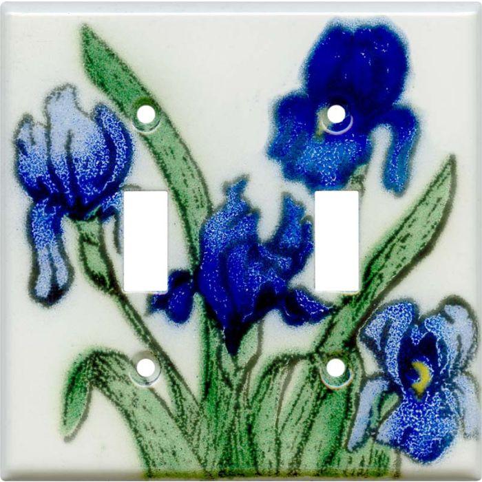 Blue Irises2 Toggle Switch Plates