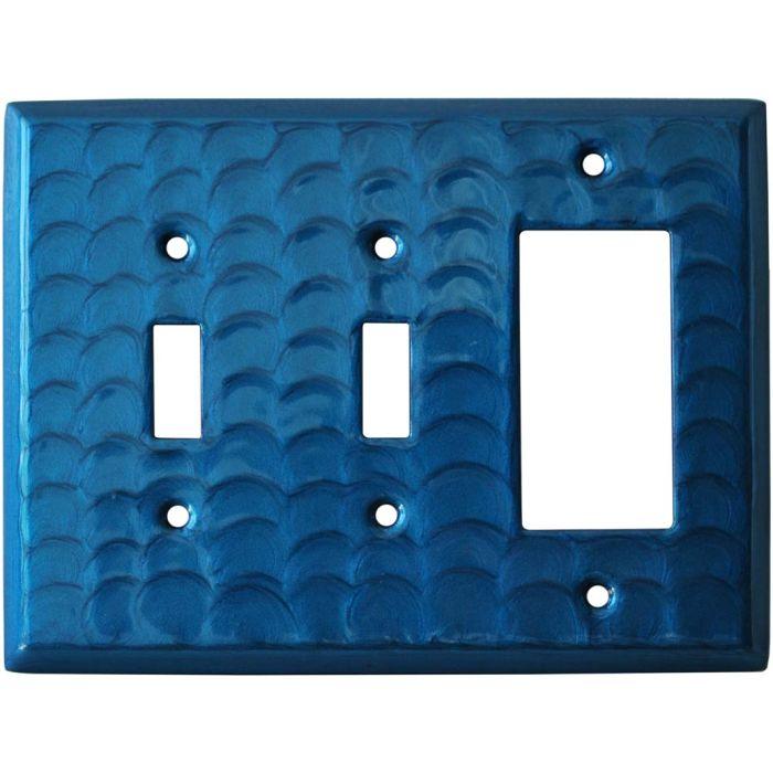 Blue Motion Double 2 Toggle / 1 GFCI Rocker Combo Switchplates