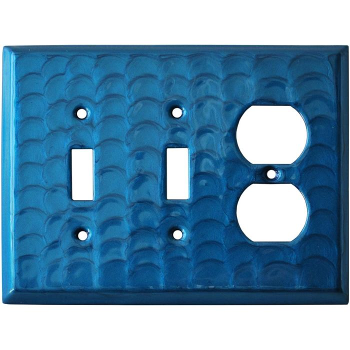 Blue Motion - 2 Toggle/Outlet Combo Wallplates