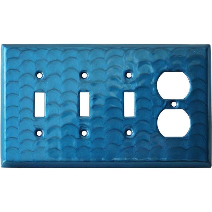 Blue Motion - 3 Toggle/Outlet Combo Wallplates