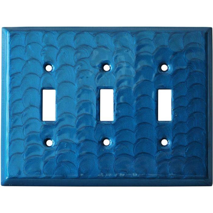 Blue Motion Triple 3 Toggle Light Switch Covers
