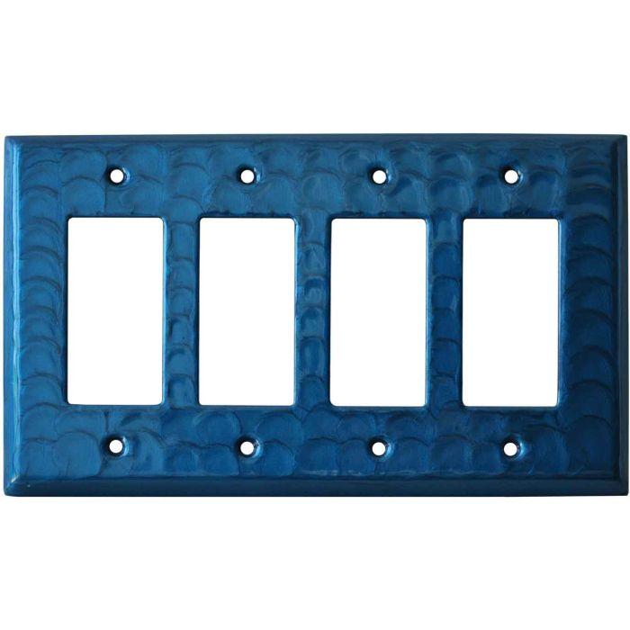 Blue Motion 4 Rocker GFCI Decorator Switch Plates