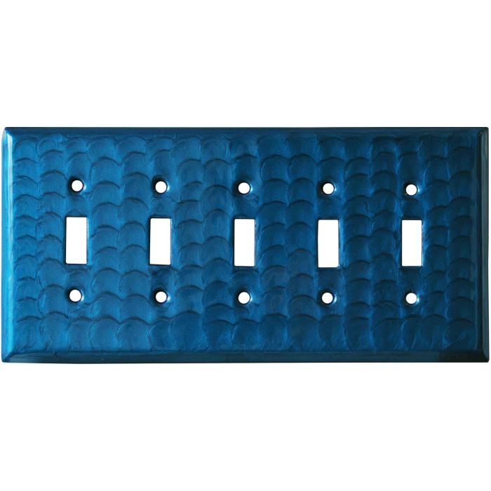 Blue Motion - 5 Toggle Wall Switch Plates