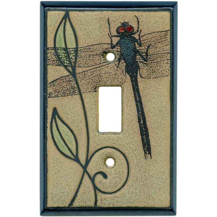Botanical Dragonfly Ceramic Single 1 Toggle Light Switch Plates