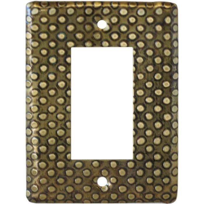 Brass Dots Single 1 Gang GFCI Rocker Decora Switch Plate Cover