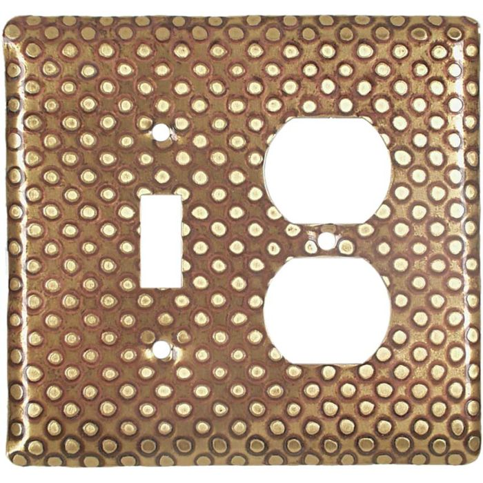 Brass Dots Combination 1 Toggle / Outlet Cover Plates
