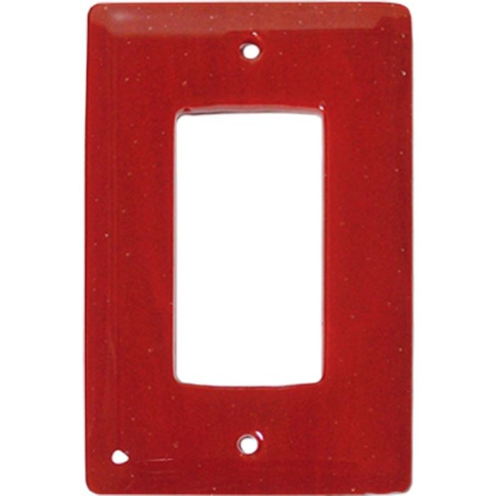 Brick Red Glass Single 1 Gang GFCI Rocker Decora Switch Plate Cover