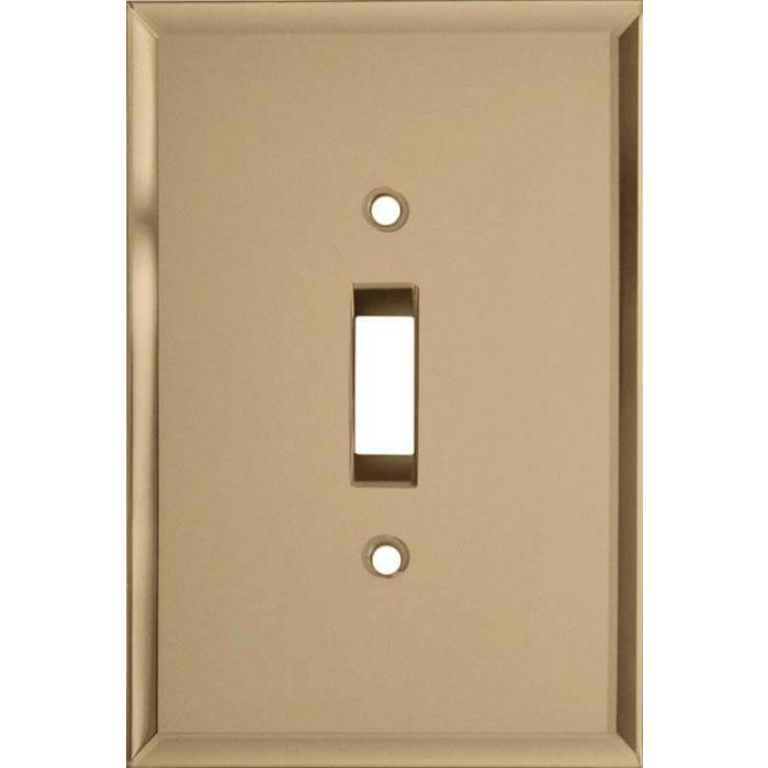 Glass Mirror Bronze Tint Single 1 Toggle Light Switch Plates