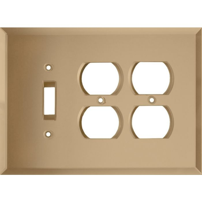Glass Mirror Bronze Tint Combintion Single 1 Toggle / Double 2 Outlet Wall Plates