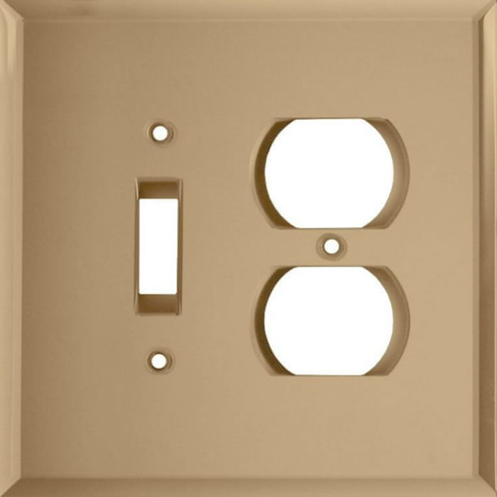 Glass Mirror Bronze Tint Combination 1 Toggle / Outlet Cover Plates