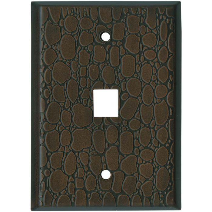 Brown Leather Steel - 1 Port Modular Plates
