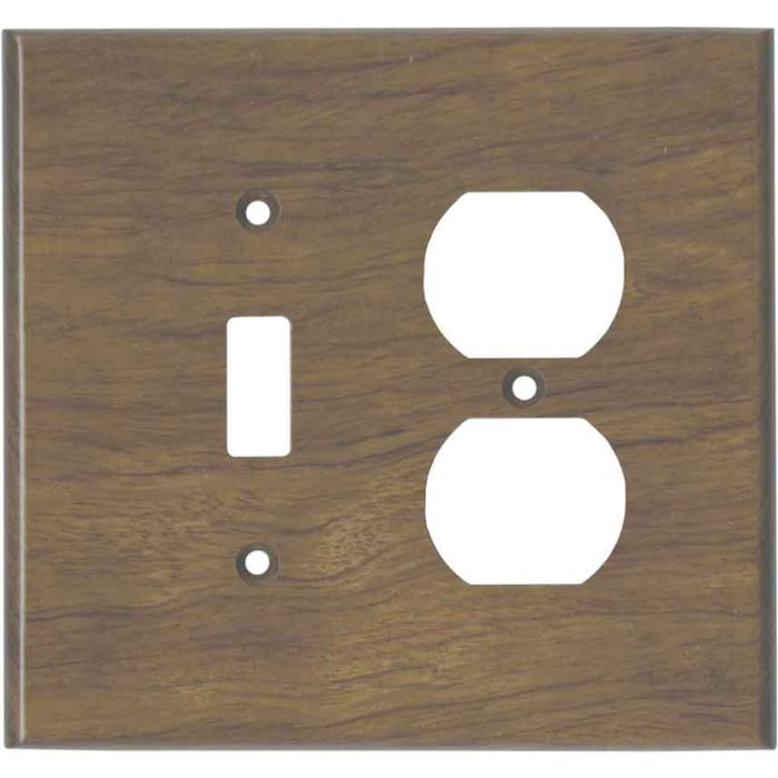 Bubinga Unfinished - Combination 1 Toggle/Outlet Cover Plates