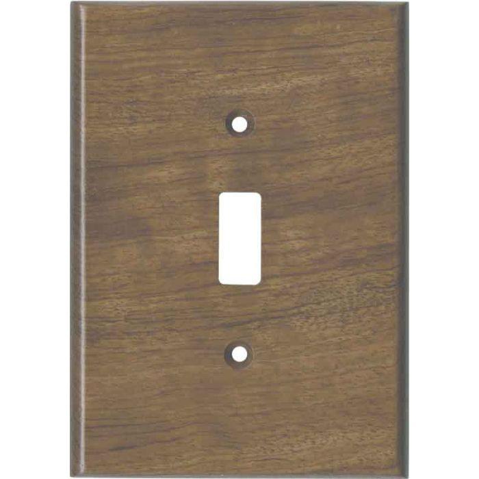 Bubinga Unfinished Single 1 Toggle Light Switch Plates