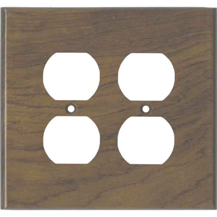 Bubinga Unfinished - 2 Gang Electrical Outlet Covers