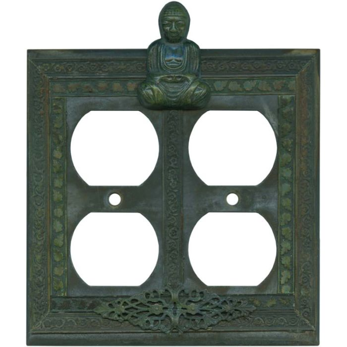 Buddha 2 Gang Duplex Outlet Wall Plate Cover