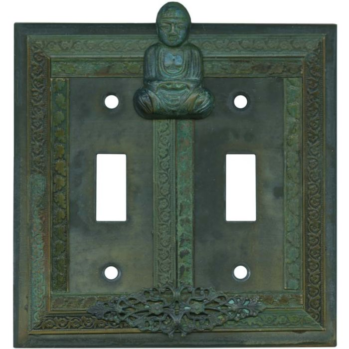 Buddha Double 2 Toggle Switch Plate Covers