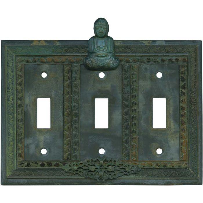 Buddha Triple 3 Toggle Light Switch Covers