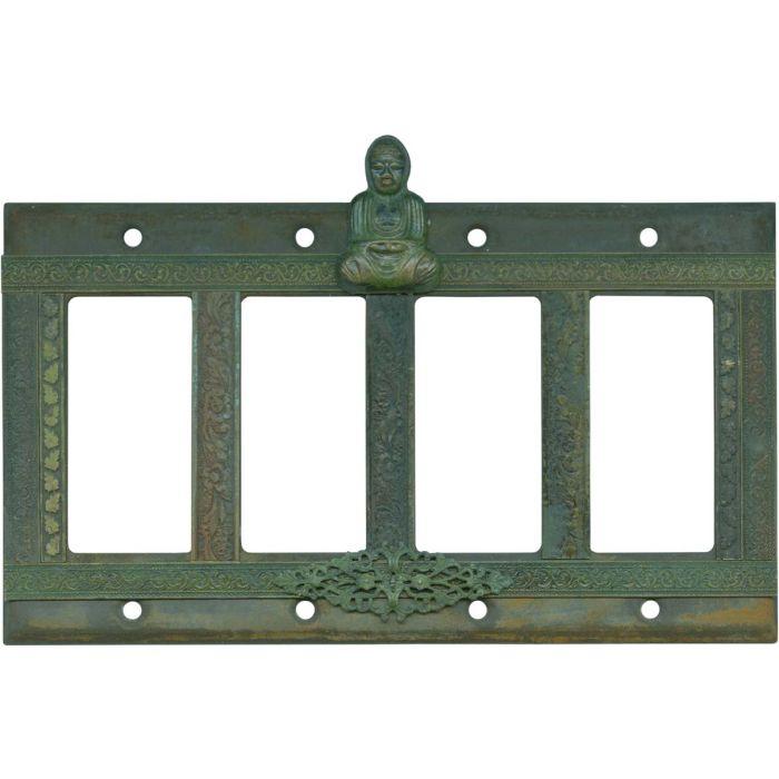 Buddha 4 Rocker GFCI Decorator Switch Plates