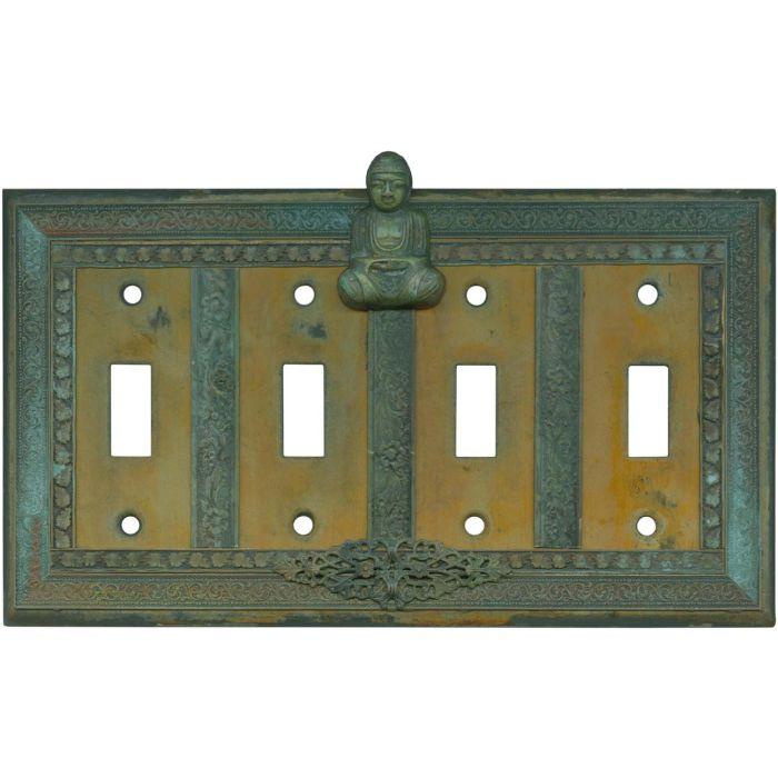 Buddha Quad 4 Toggle Light Switch Covers
