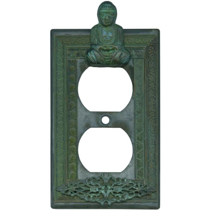 Buddha 1 Gang Duplex Outlet Cover Wall Plate