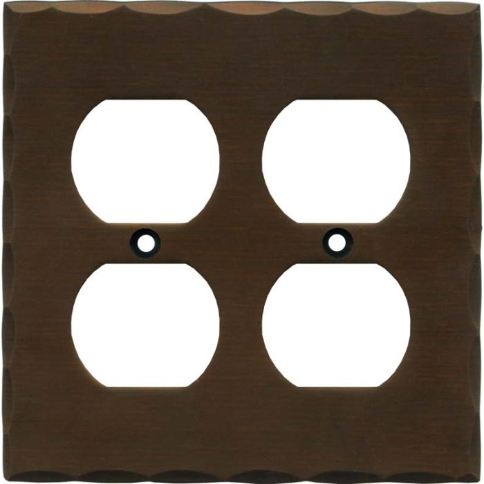 Bungalow 2 Gang Duplex Outlet Wall Plate Cover