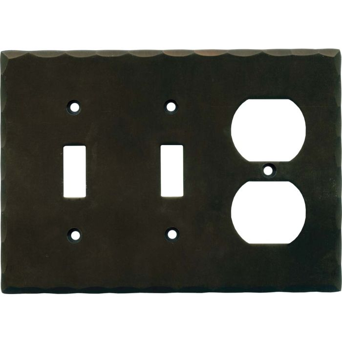 Bungalow Double 2 Toggle / Outlet Combination Wall Plates
