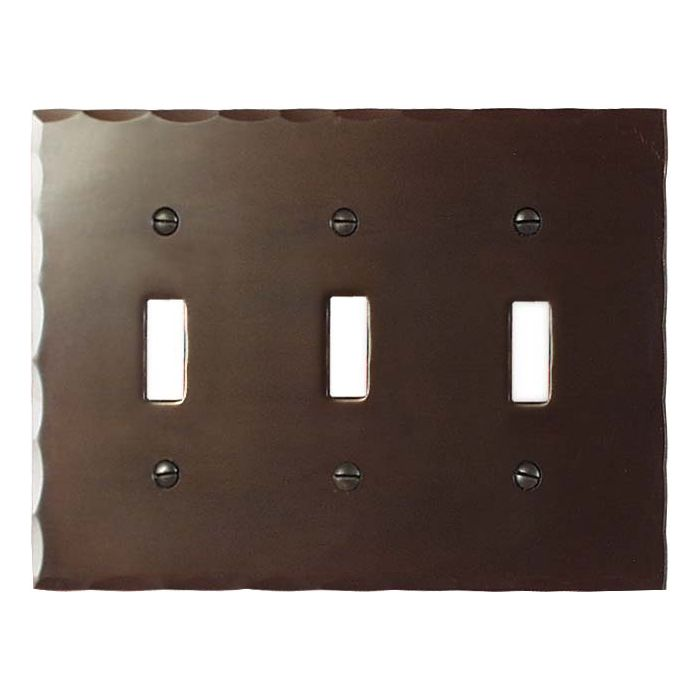 Bungalow Triple 3 Toggle Light Switch Covers