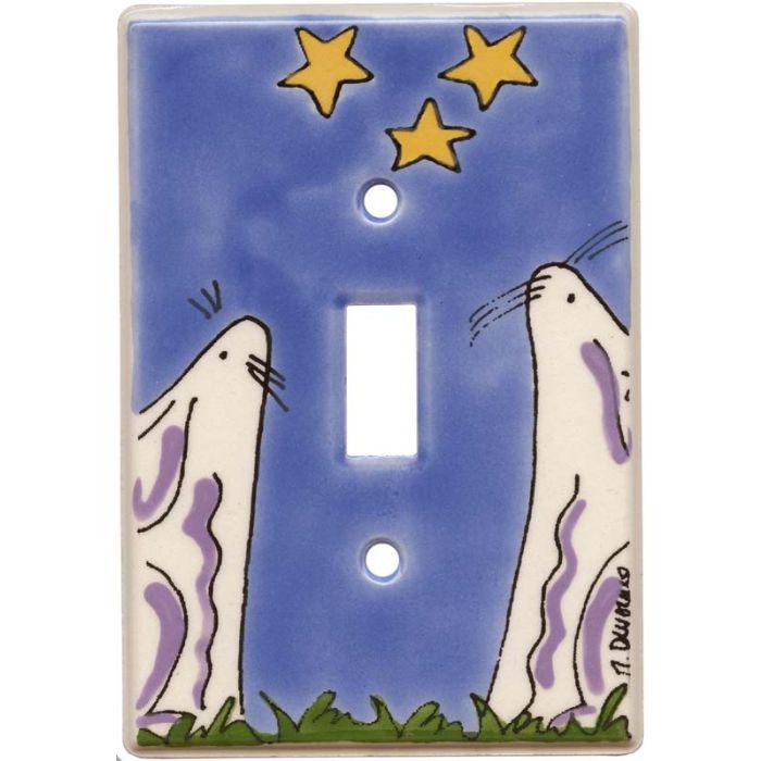 Bunnies Single 1 Toggle Light Switch Plates