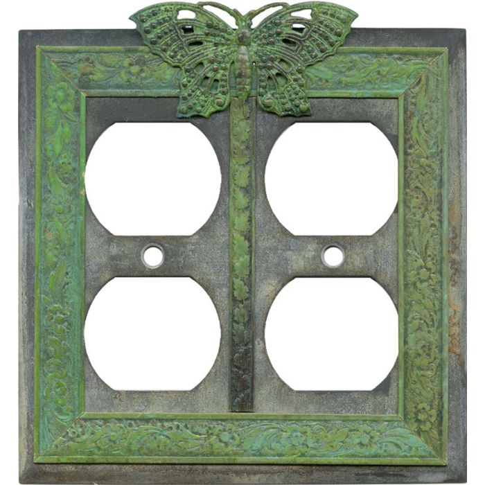 Butterfly 2 Gang Duplex Outlet Wall Plate Cover
