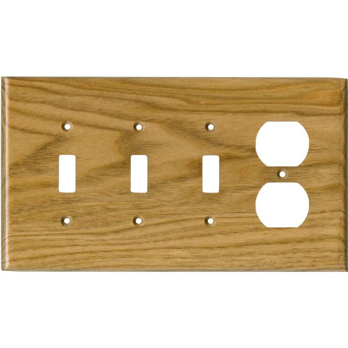 Butternut Satin Lacquer - 3 Toggle Switch Plates