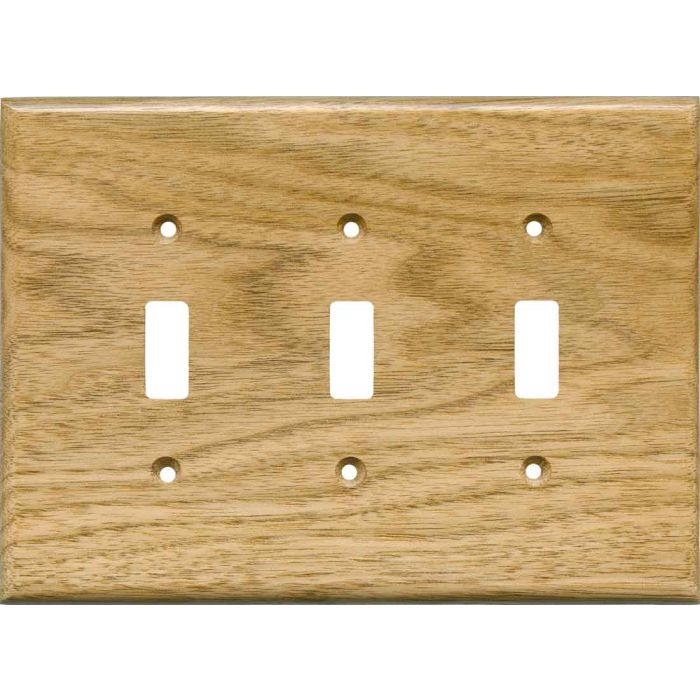 Butternut Satin Lacquer Triple 3 Toggle Light Switch Covers