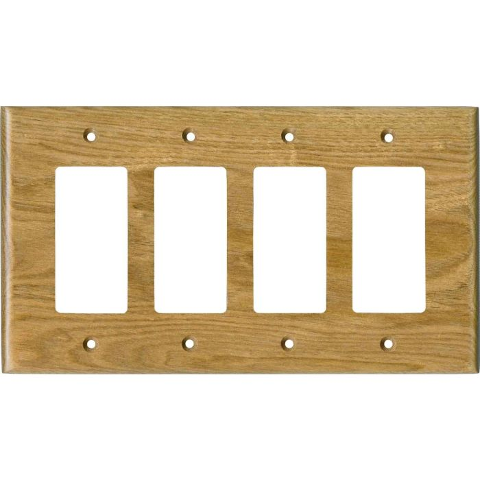 Butternut Satin Lacquer4 Rocker GFCI Decorator Switch Plates