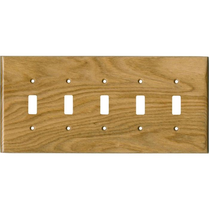 Butternut Satin Lacquer - 5 Toggle Wall Switch Plates