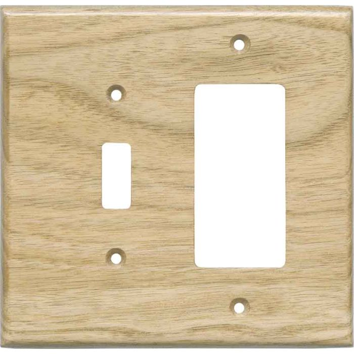 Butternut Unfinished Combination 1 Toggle / Rocker GFCI Switch Covers
