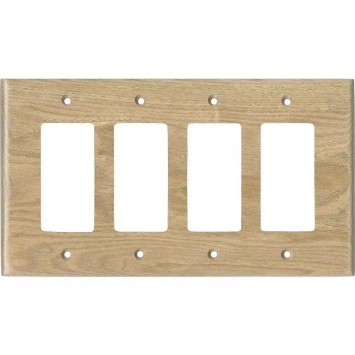 Butternut Unfinished4 Rocker GFCI Decorator Switch Plates