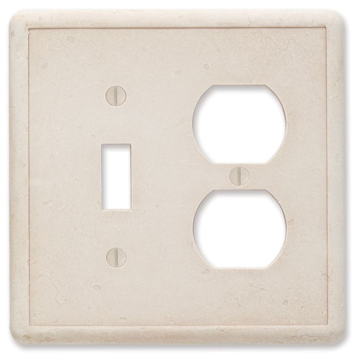 Cast Stone Ivory Combination 1 Toggle / Outlet Cover Plates
