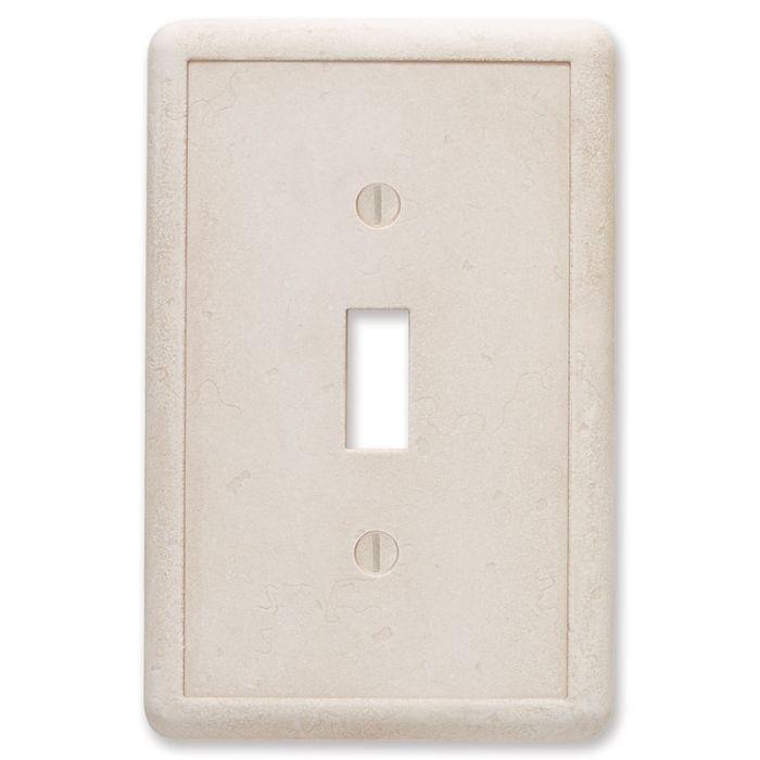 Cast Stone Ivory Single 1 Toggle Light Switch Plates
