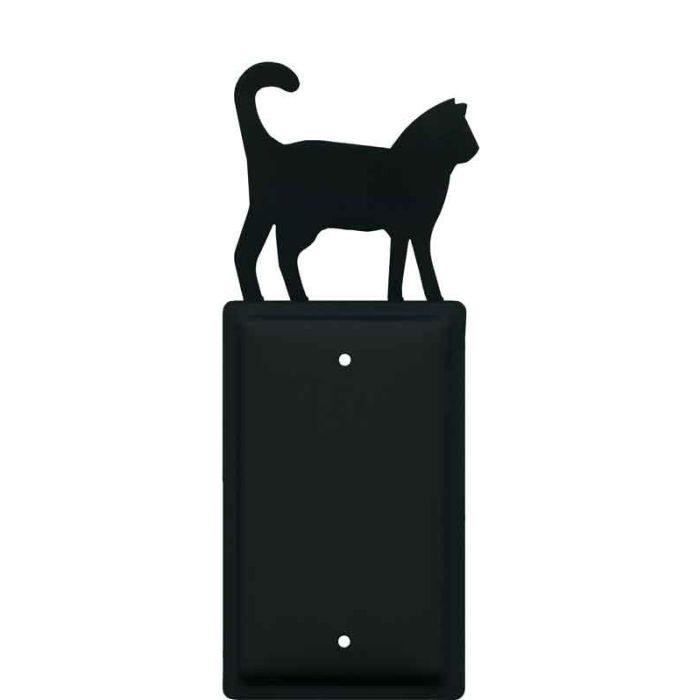 Cat Black Blank Wall Plate Cover