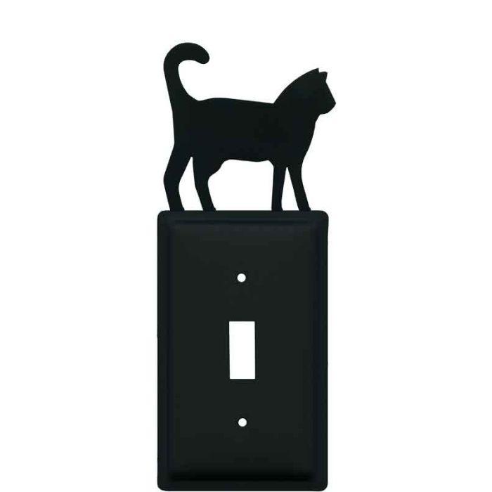 Cat Black Single 1 Toggle Light Switch Plates