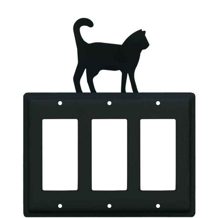 Cat Black Triple 3 Rocker GFCI Decora Light Switch Covers