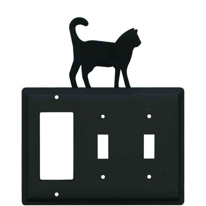 Cat Black 1-Gang GFCI Decorator Rocker Switch Plate Cover