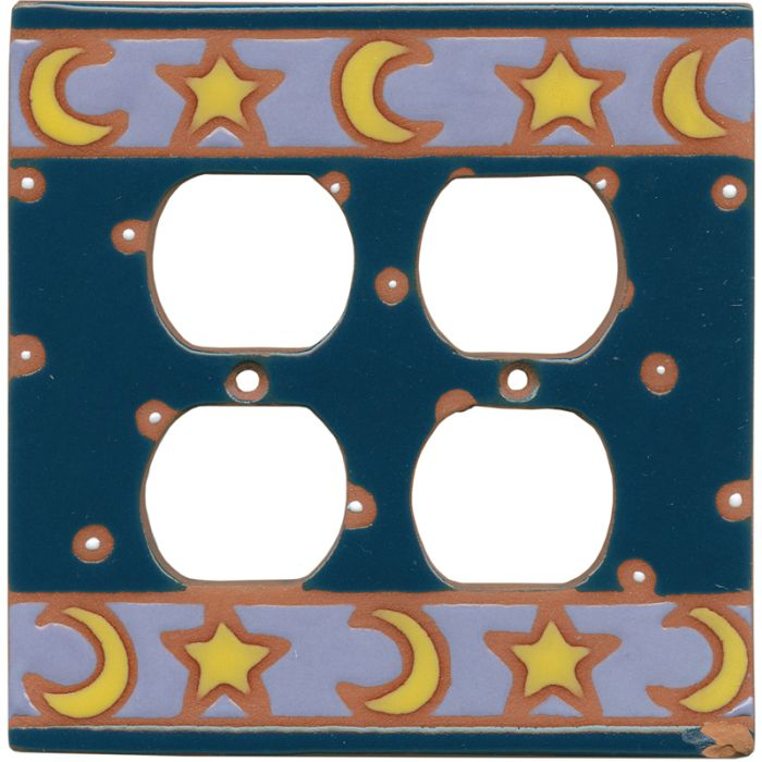 Celestial - 2 Gang Electrical Outlet Covers