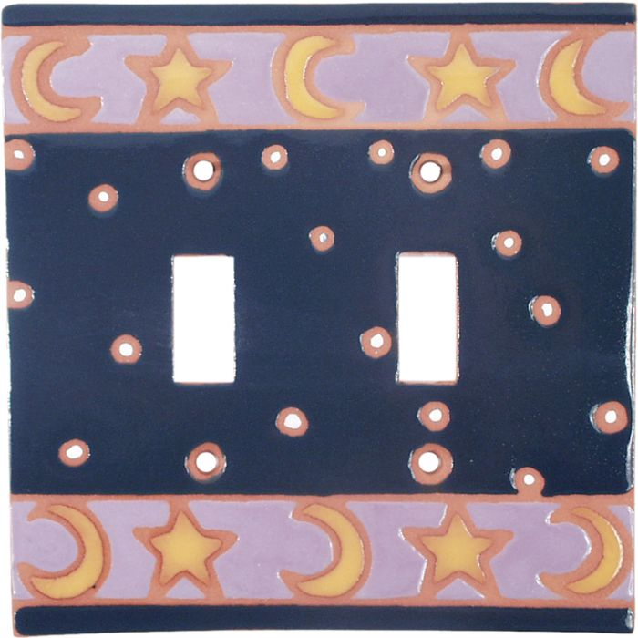 Celestial Double 2 Toggle Switch Plate Covers