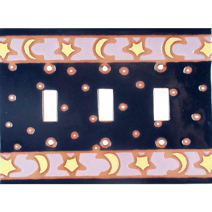 Triple Toggle Art Plates Celestials Switch Plate