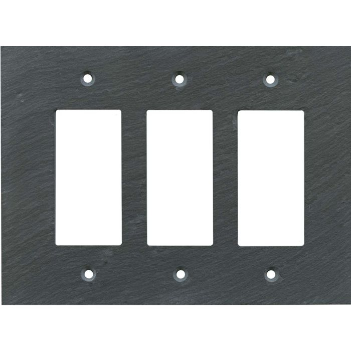 Vermont Charcoal Slate Triple 3 Rocker GFCI Decora Light Switch Covers