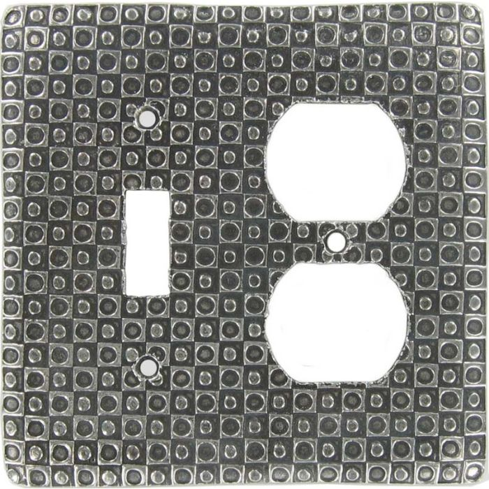 Checkers Combination 1 Toggle / Outlet Cover Plates
