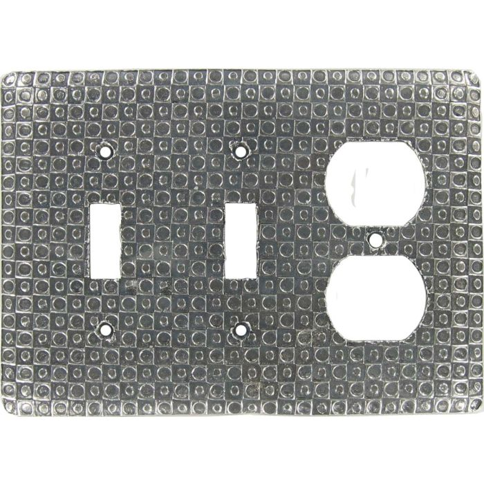 Checkers Double 2 Toggle / Outlet Combination Wall Plates